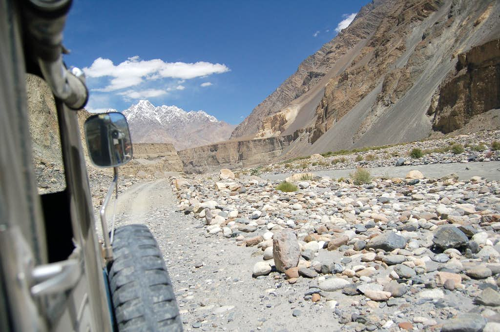 Jeep track to Shimshal from Passu