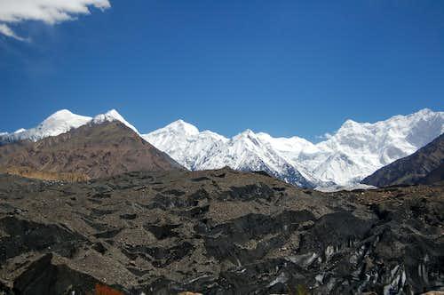 Malanguti Glacier from the Shimshal Jeep track