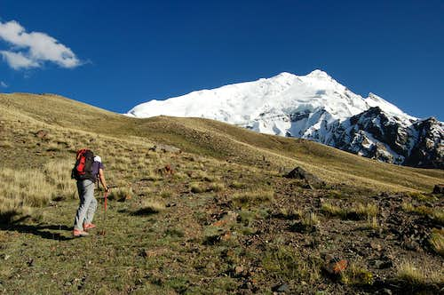 Climb to Yazghil Sar\'s Base Camp