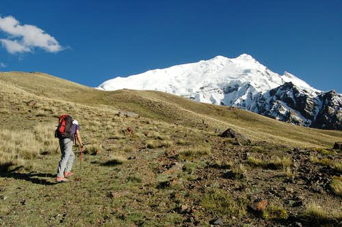 Climb to Yazghil Sar's Base Camp