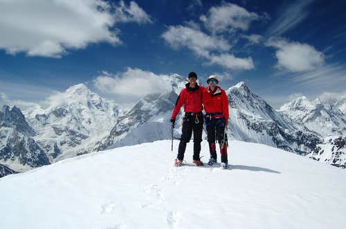 Yazghil Sar's summit