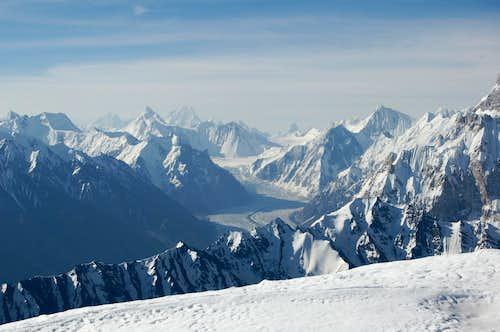 Khurdopin Glacier from Yazghil Sar's Northern Ridge