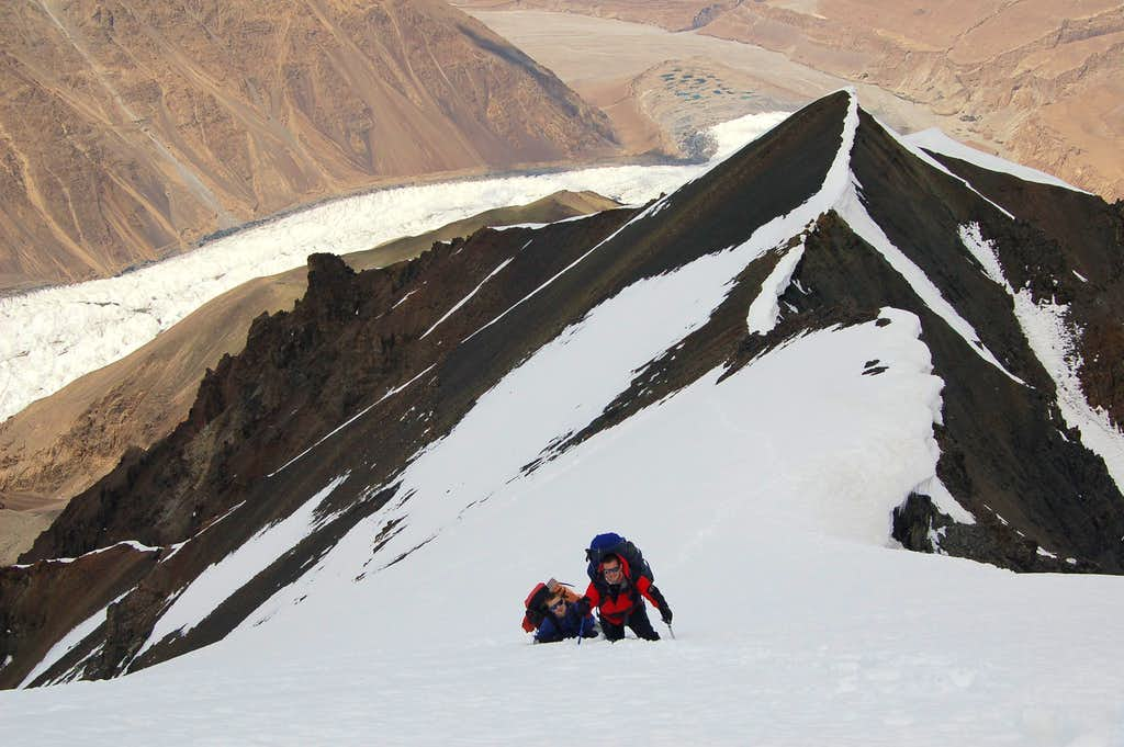 Climbing to high camp (5100m)