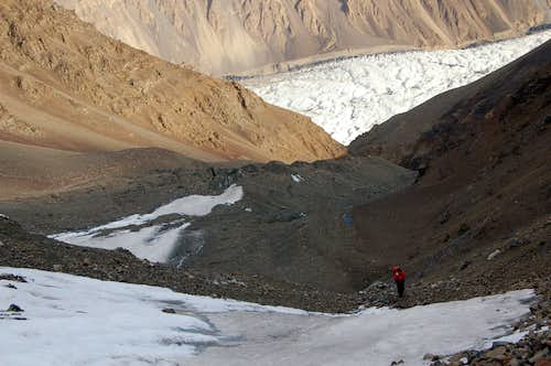 Climbing to high camp