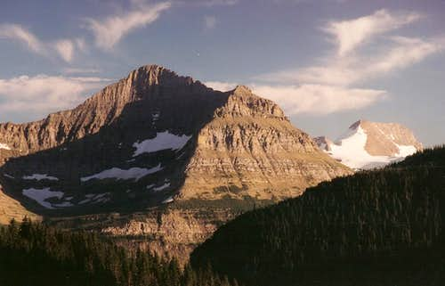 Citadel Mountain and Blackfoot Mountain