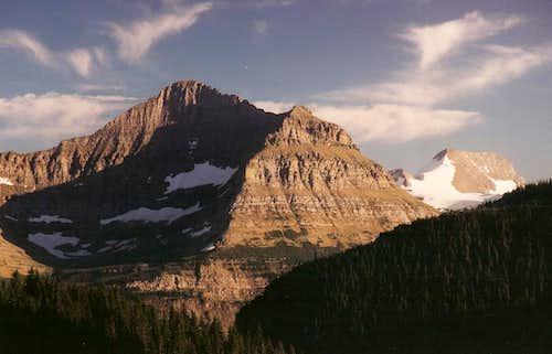 Citadel Mountain and Blackfoot Mountain