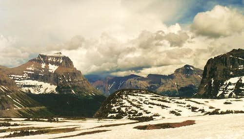East from Logan Pass