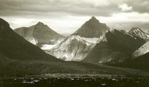 Norris Mountain and Split Mountain, Sunrise