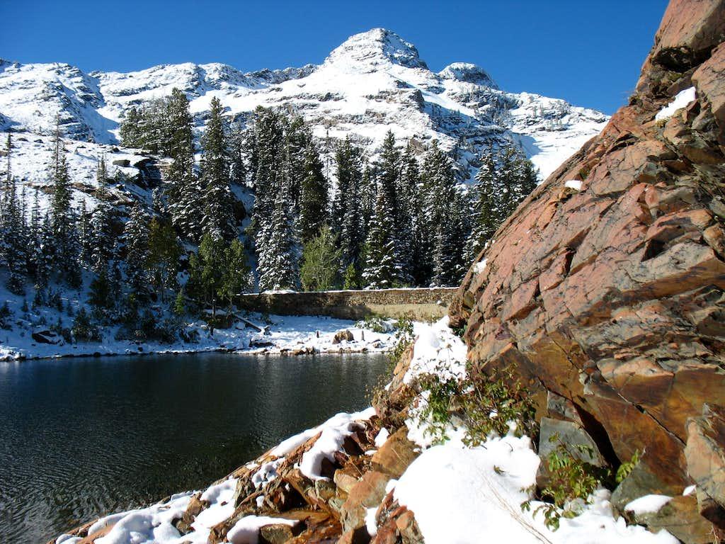 Dromedary Peak above Lake Blanche