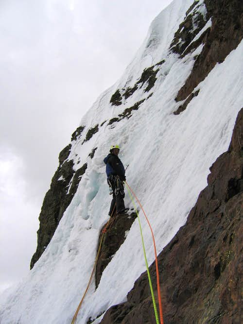 The last belay reached