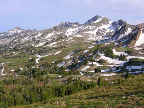 Gros Peak and upper Granite Creek drainage