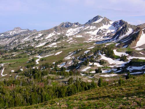 Gros Peak and upper Granite Creek drainage