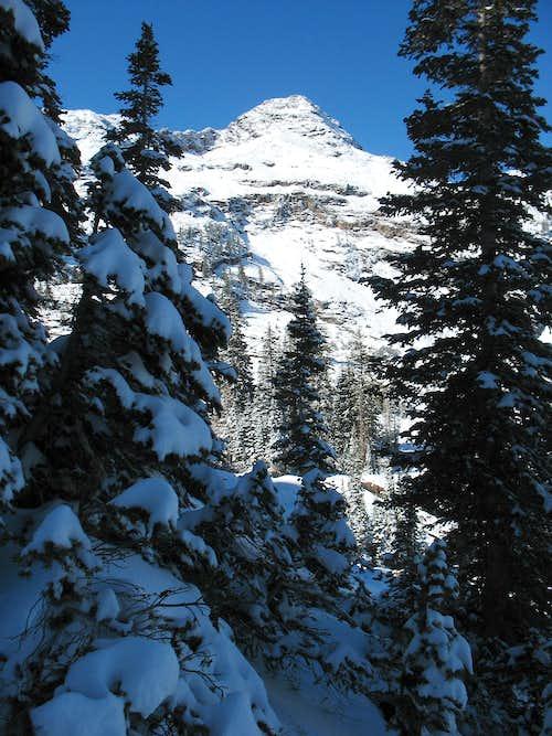 Dromedary Peak from southwestern slopes of Sundial Peak
