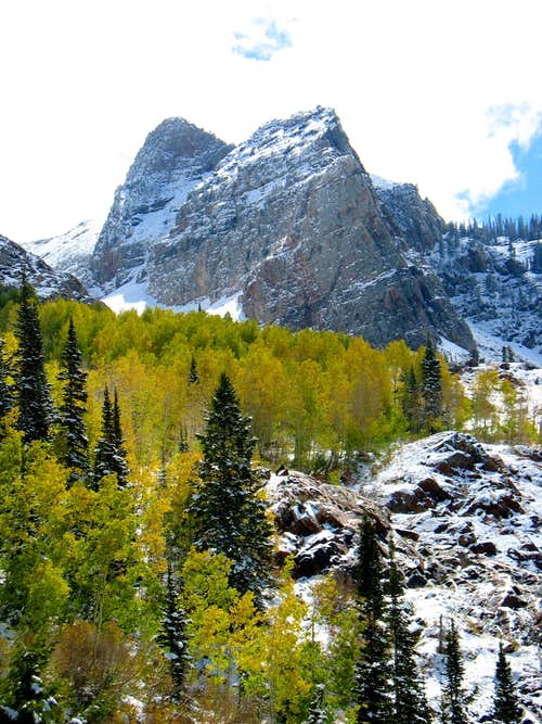 Sundial Peak from Lake Blanche trail
