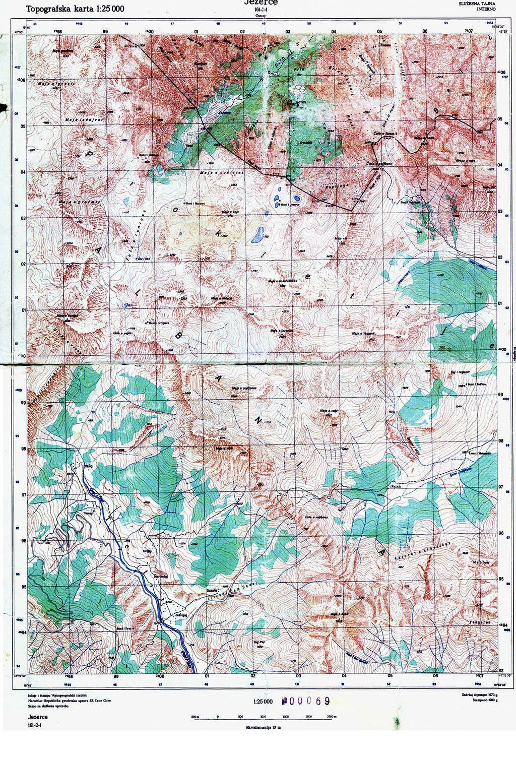 Map of central-western Prokletije