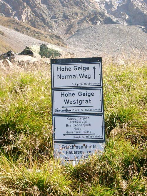 Hohe Geige - two routes