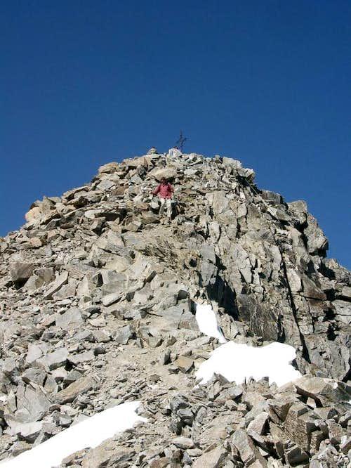 Hohe Geige - final ascent