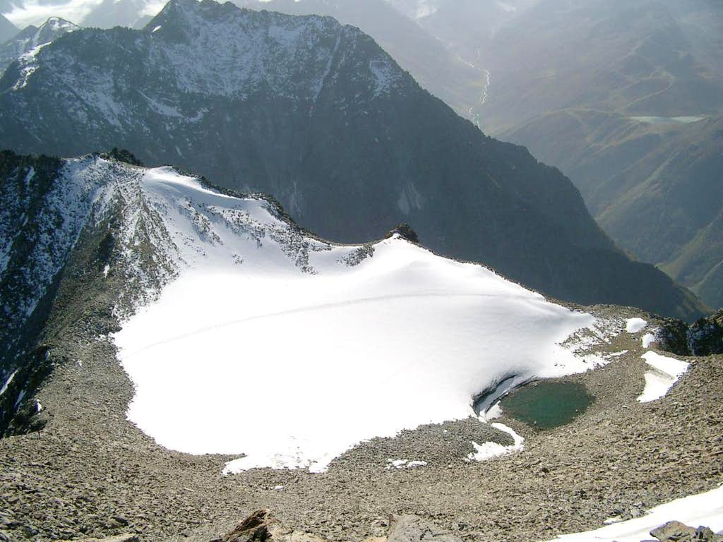 Hohe Geige - small glacier