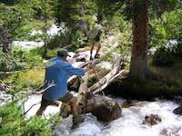 Gannet Creek crossing