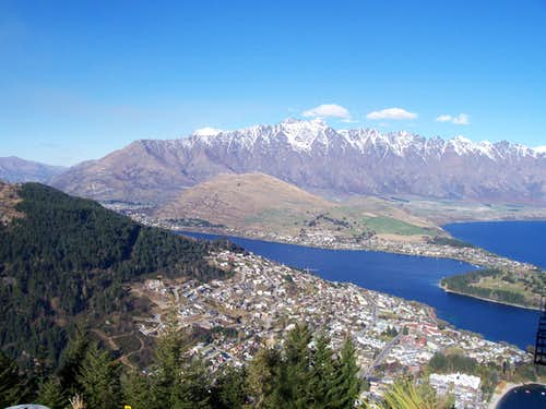 The Remarkables above Queenstown, NZ