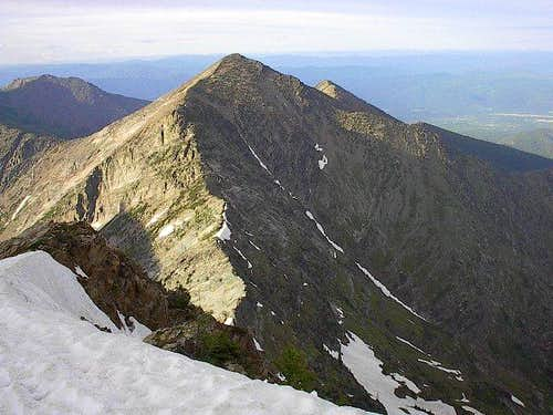Bockman Peak from high on the...