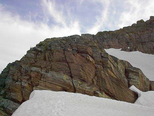 The upper northeast ridge of...