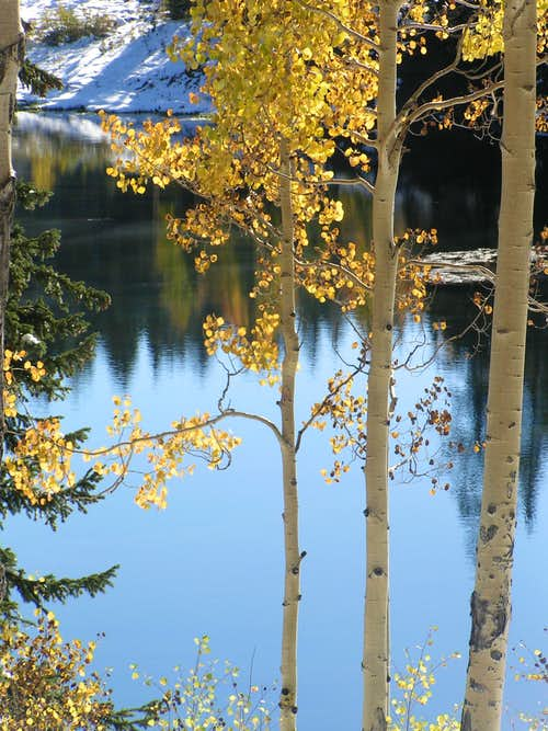 Aspens glow, lakes reflect, snow melts