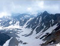 A view from Alam kuh peak to...