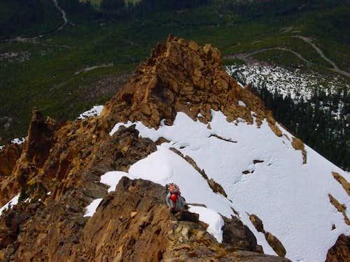 Climbing the West Ridge in...