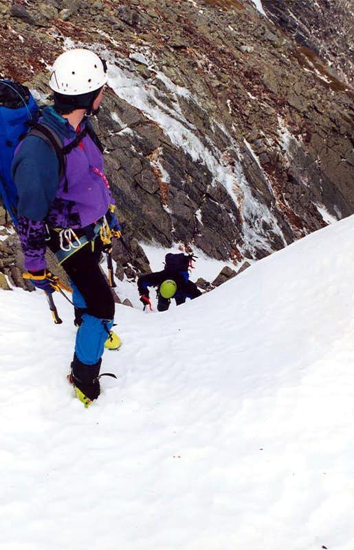Topping out Central Gully