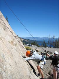 Climbing at Donner Summit