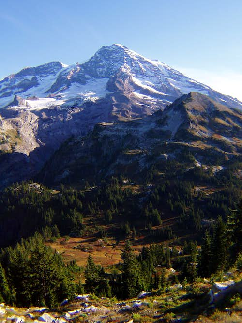 Rainier and Pyramid Peak