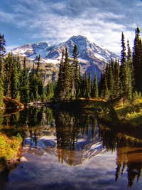 Mirror Lakes - Rainier Reflection
