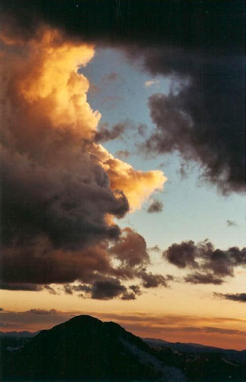 Sunset and Mount Bierstadt, Colorado