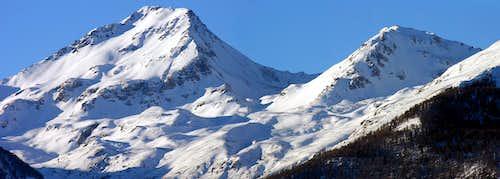 Il versante sud del Mont Fallère (3061 m)