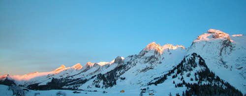 Aravis at sunset