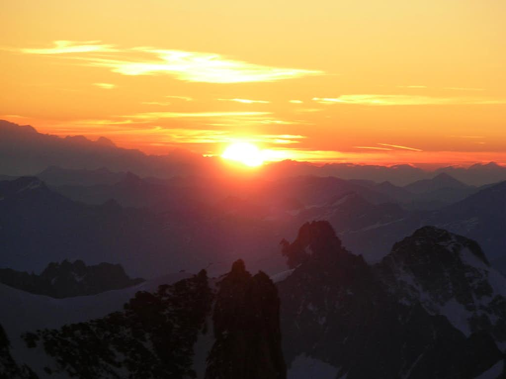 Sunrise from Mont Maudit