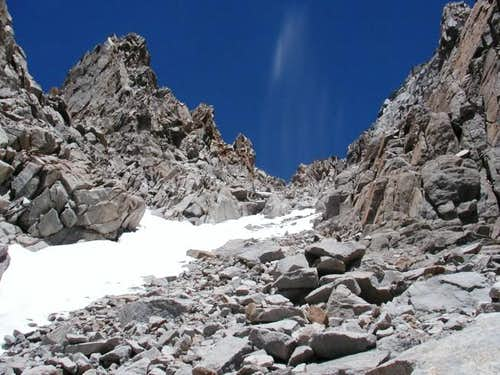 Looking up the West Face...