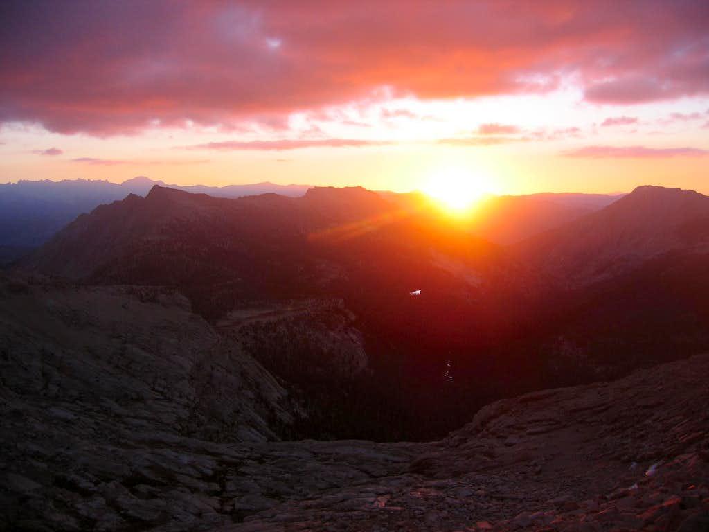 Sunrise over the sierras