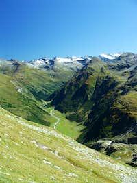 Looking down Dorfer Tal