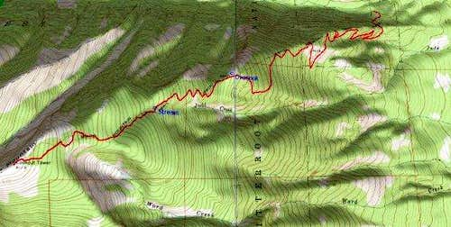 3D Topo of Standard Ward Route