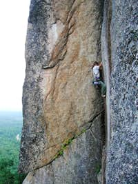The Black Crack on Cathedral Ledge