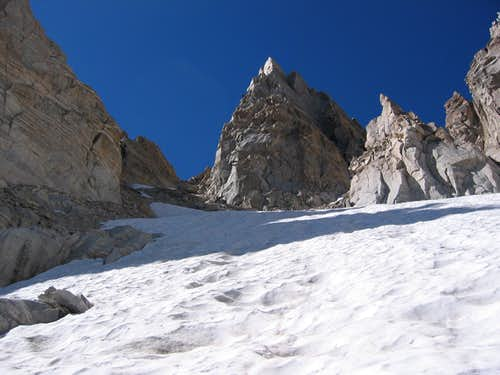 Looking up East Couloir