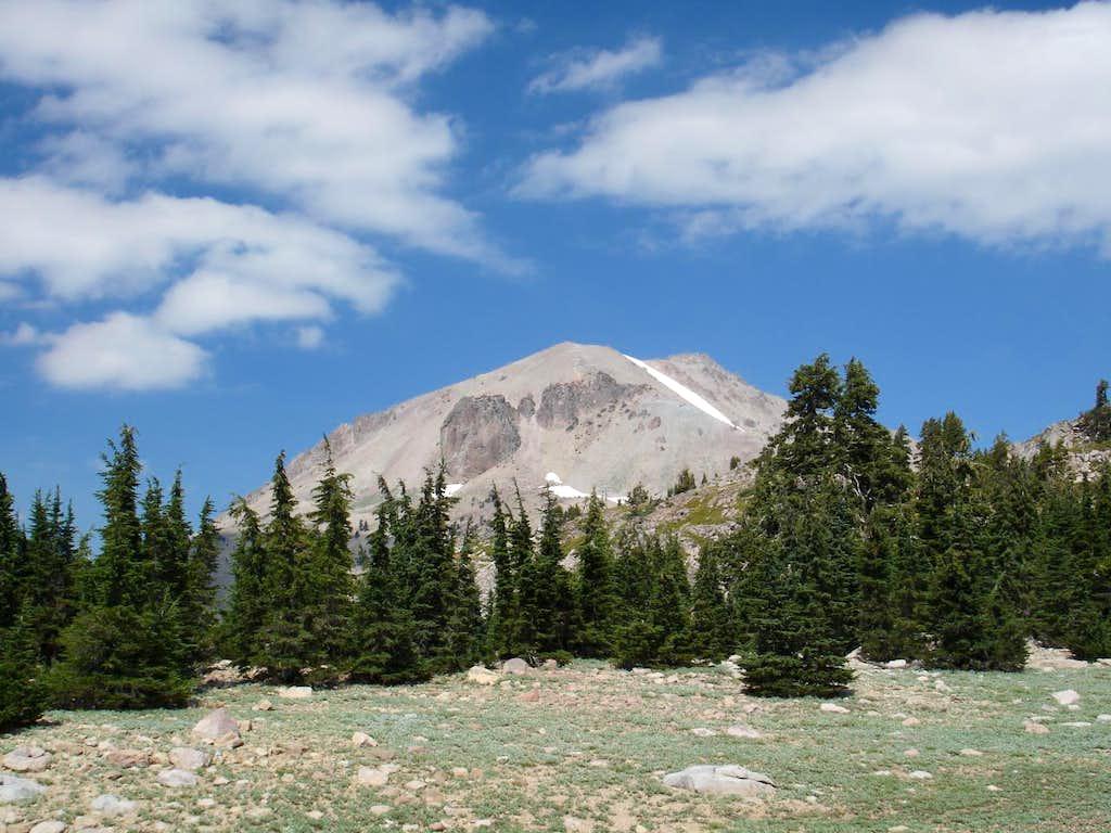 Lassen Peak as seen from the Bumpass Hell trail