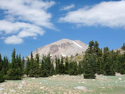 Lassen Peak as seen from the Bumpass Hell trail