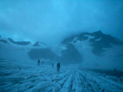 Ecrins > Glacier de la Pilatte (in the fog)