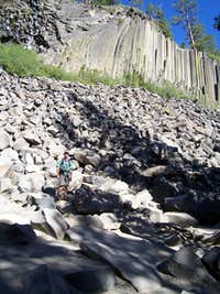 Standing in front of Devils Postpile Aug 2006