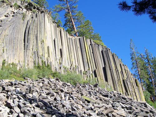 Our first view of the Postpile Aug 2006