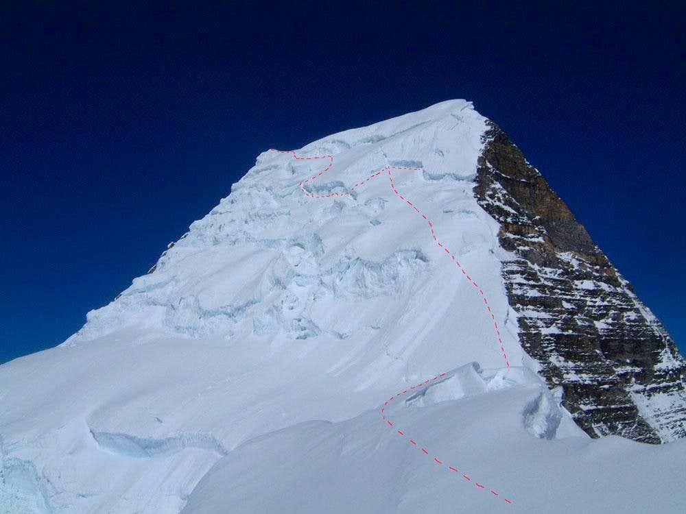 Summit pyramid of Mount Robson