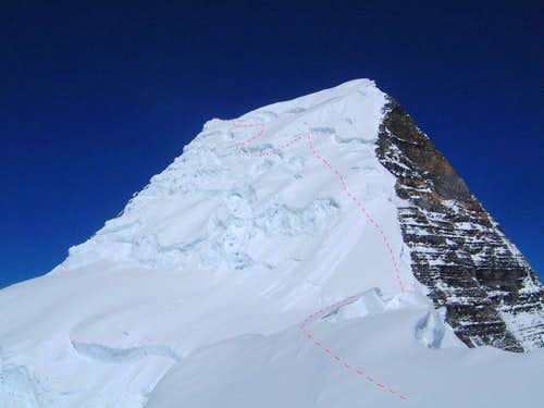 Summit pyramid of Mount Robson